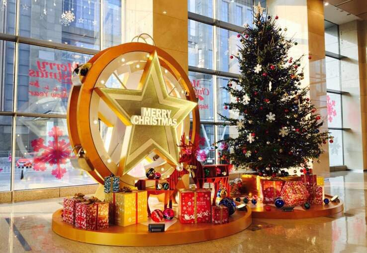 tianjin metropolitan plaza mpt will illuminate the office lobby with the glittering ferris wheel at this christmas the star shaped ferris wheel