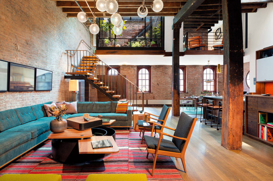 1 enjoyable design industrial loft apartment 16 industrial loft in tribeca with retractable glass roof