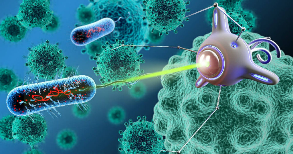 A bacteriobot is a medical nanorobot Bacteriobots are used to treat cancer